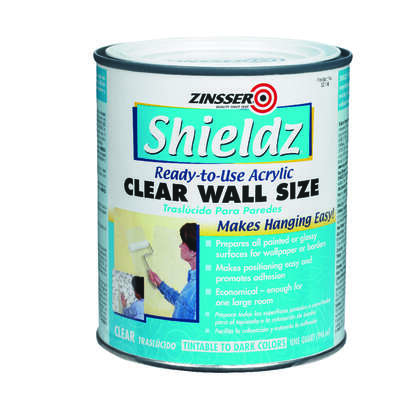 Zinsser  Shieldz Clear Wall Size  Clear  Primer  1 qt.