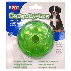 SPOT Crunchables  Assorted  Ball/Bone  TPR  Dog Toy