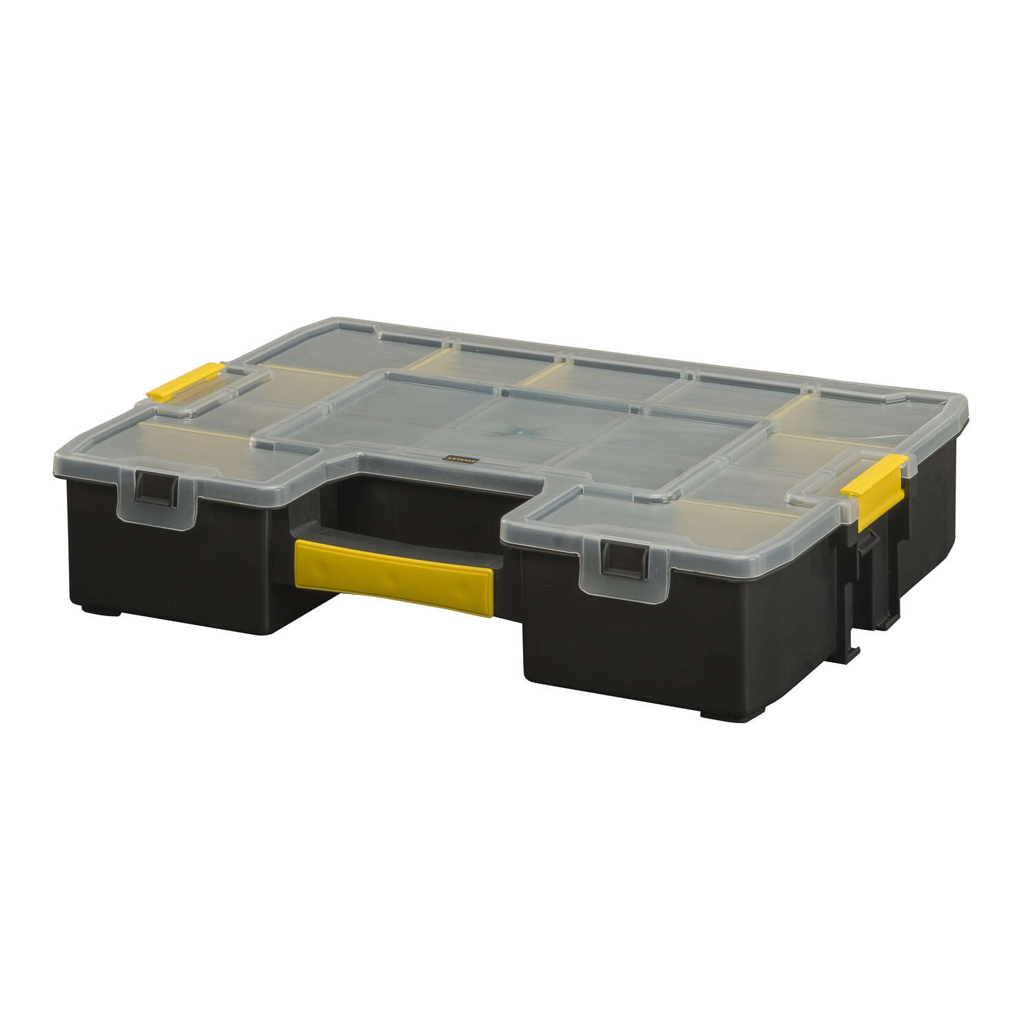 Stanley  Sort Master  17 in. Plastic  Organizer  13 in. W x 3 in. H Black/Yellow