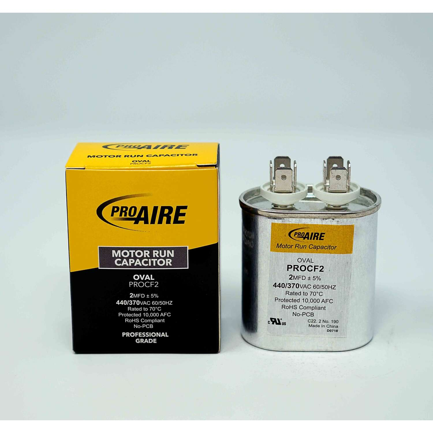 Perfect Aire ProAire 2 MFD 370 volt Oval Run Capacitor