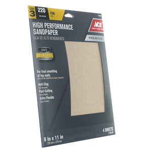 Ace 220 grit Sandpaper