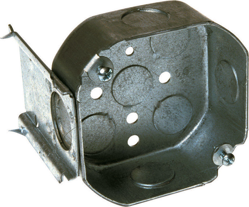 Raco  Octagon  Steel  Junction Box  Gray  4 in.