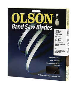 Olson  93.5  L x 0.4 in. W x 0.02 in.  Carbon Steel  Band Saw Blade  4 TPI 1 pk Skip