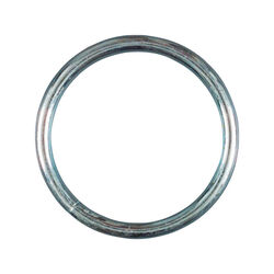 Baron Medium Nickel Plated Silver Steel 2-1/2 in. L Ring 300 lb. 1 pk