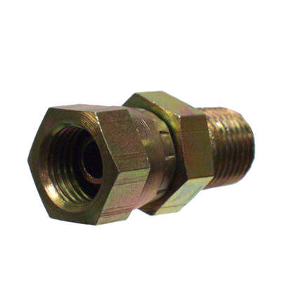 Apache  Steel  1/4 in. Dia. x 3/8 in. Dia. Hydraulic Adapter  1 pk