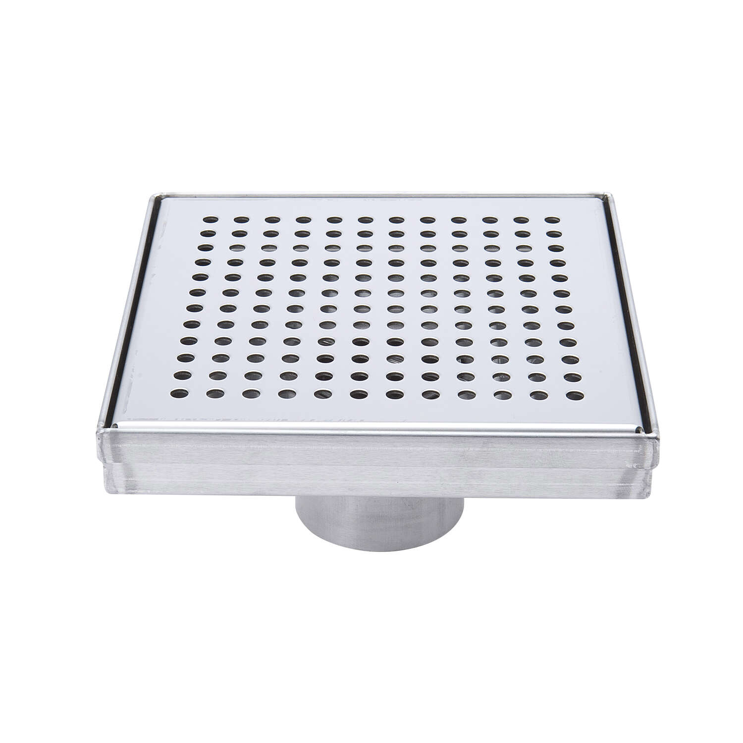 BK Products 2 in. Dia. Chrome Square Shower Drain