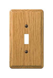 Amerelle  Contemporary  1 gang Wood  Toggle  1 pk Wall Plate
