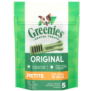Greenies  Petite  Original  Dog  Grain Free Dental Stick  5 pk 3 oz.