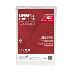 ACE 9 W x 12 ft. L Paper/Poly Drop Cloth 1 pk