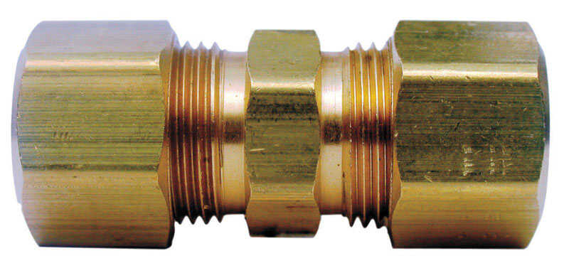 Ace  1/4 in. Compression   x 1/4 in. Dia. Compression  Yellow Brass  Union