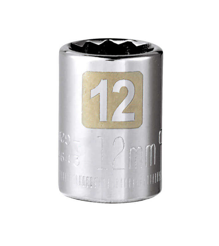 Craftsman  12 mm  x 3/8 in. drive  Metric  12 Point Standard  Socket  1 pc.