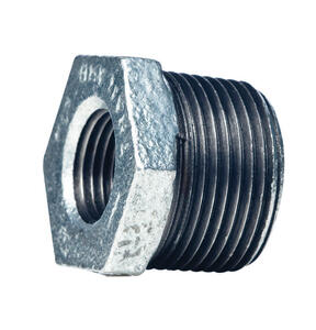 Mueller  3 in. MPT   x 2-1/2 in. Dia. FPT  Galvanized  Malleable Iron  Hex Bushing