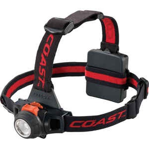Coast  HL27  360 lumens Black  LED  Head Lamp  AA Battery