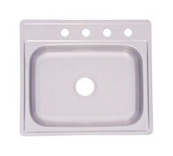 Kindred  Stainless Steel  Top Mount  25 in. W x 22 in. L One Bowl  Kitchen Sink