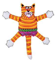 Fat Cat  Multicolored  Assorted Styles  Nylon  Squeak Dog Toy  Small  1