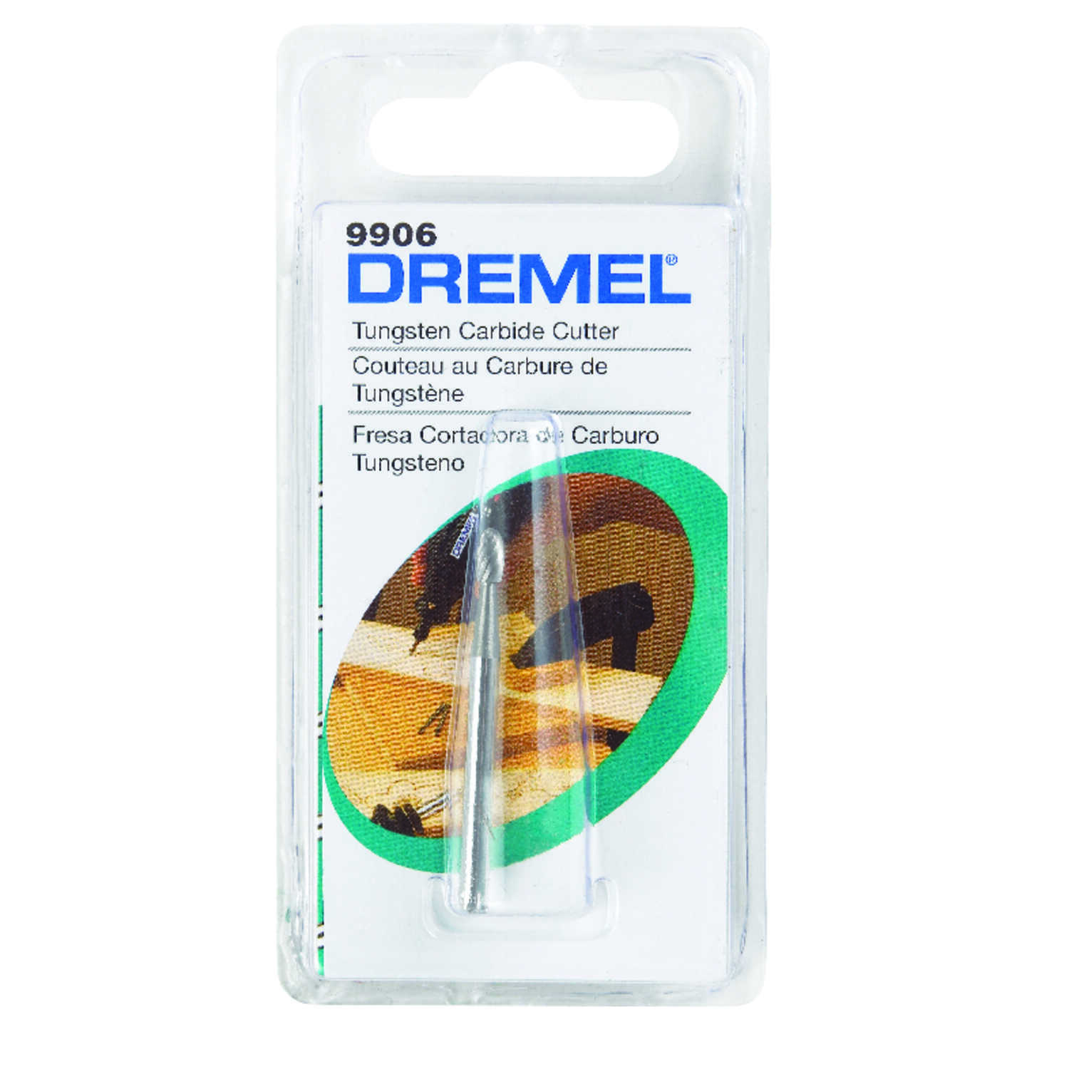 Dremel  1/8 in.  x 1.5 in. L x 1/8 in. Dia. Carbide  Cutter  1 pk