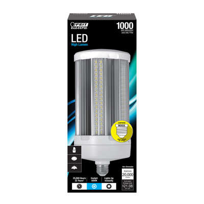 Feit Electric Cylinder E26 (Medium) LED Bulb Natural Light 1000 Watt Equivalence 1 pk
