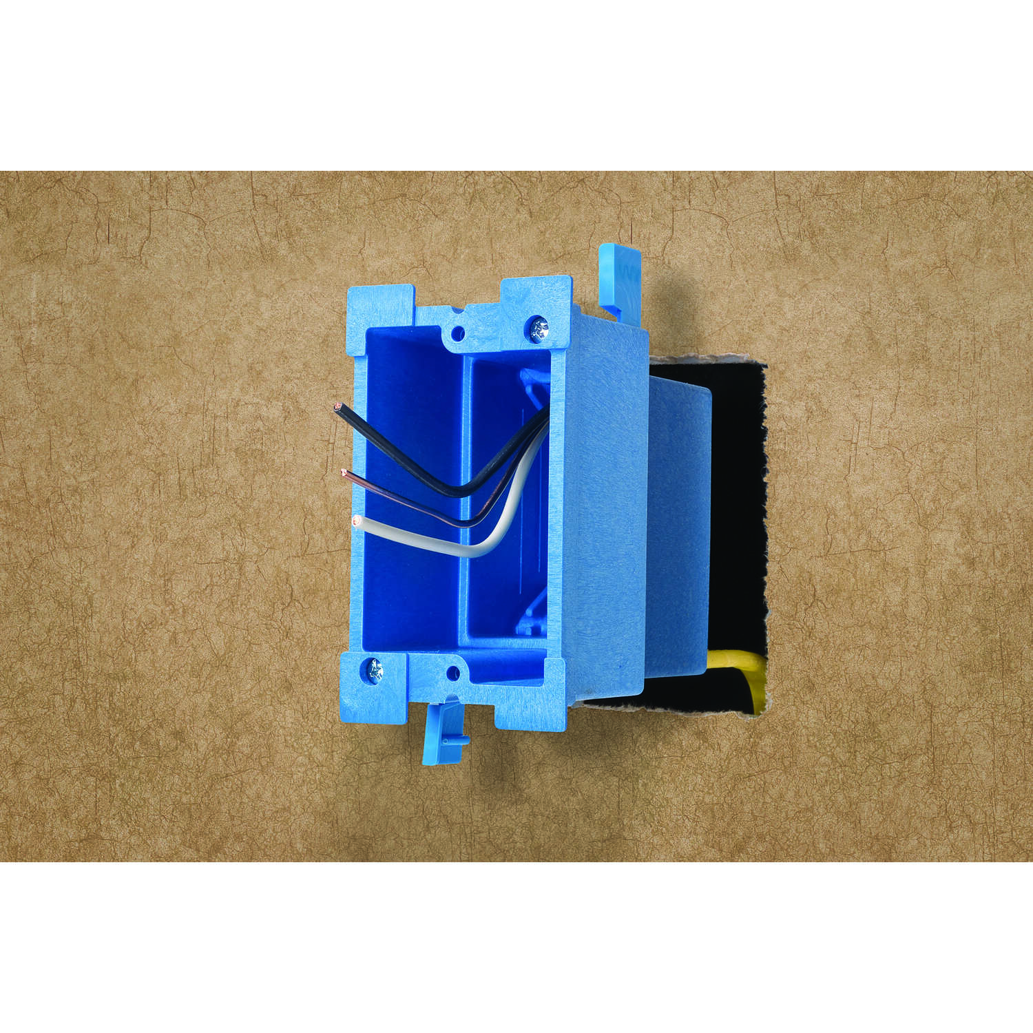 Carlon  Super Blue  7-5/8 in. Thermoplastic  1 gang 1 Gang  Outlet Box  Blue  Rectangle