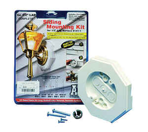 Arlington  1/2 in. Octagon  Plastic  Siding Mounting Kit  White