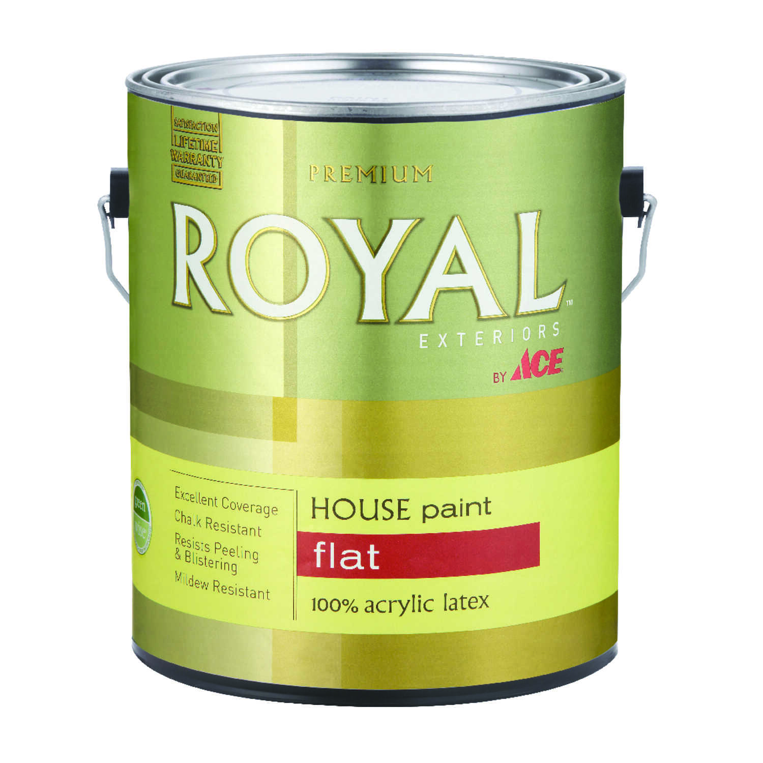 Ace  Royal  Flat  White  Acrylic Latex  House Paint & Primer  1 gal.