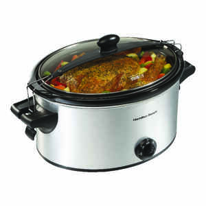 Hamilton Beach  6 qt. Silver  Stainless Steel  Slow Cooker