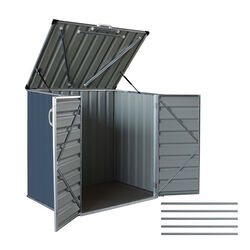 Build-Well  4.41 ft. H x 4.75 ft. W x 3.175 ft. D Gray  Galvanized Steel  Storage Shed and Floor Kit