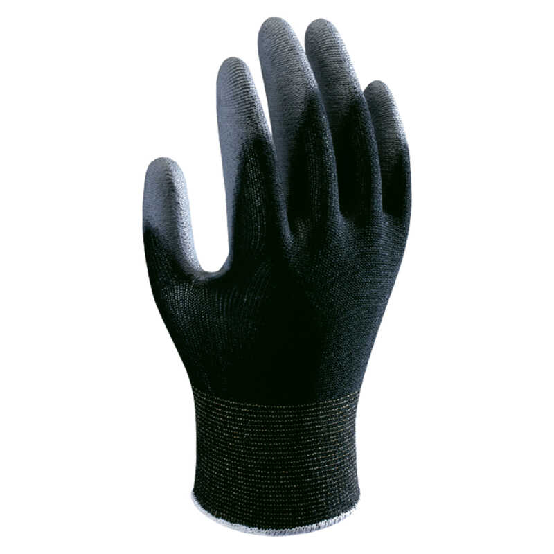 Showa  Atlas  Unisex  Indoor/Outdoor  Polyurethane  Coated  Work Gloves  Black/Gray  XL