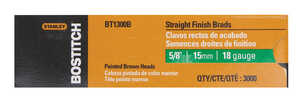 Stanley Bostitch  18 Ga. Smooth Shank  Straight Strip  Brad Nails  5/8 in. L x 0.1 in. Dia. 3,000 pc