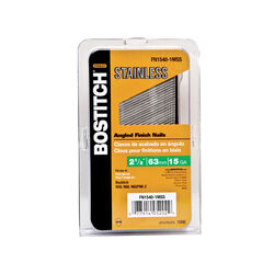 Bostitch  2-1/2 in. 15 Ga. Angled Strip  Finish Nails  Smooth Shank  1,000 pk