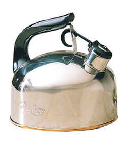 Ekco  Silver  2.3 qt. Tea Kettle  Stainless Steel