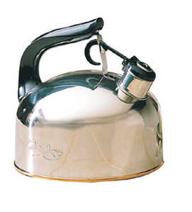 Ekco Whistling Tea Kettle 2-1/3 qt. Stainless Steel, Copper