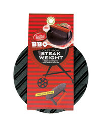 Tablecraft  BBQ  7 in. W Gray  Cast Iron  Steak Weight w/Handle