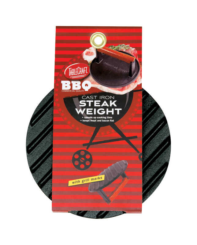 Tablecraft  BBQ  7 in. W Gray  Steak Weight w/Handle