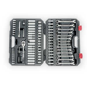 Crescent  Gearwrench  Assorted Sizes  x 3/8 in.  Metric and SAE  6 and 12  Socket Wrench Set  85 pc.