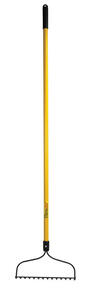 Home Plus  61 in. L x 14 in. W Steel  Hoe/Rake  Fiberglass
