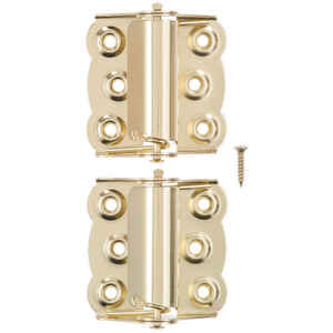 Ace  2-3/4 in. L Bright Brass  Brass  Screen/Storm Self Closing Hinge  2 pk