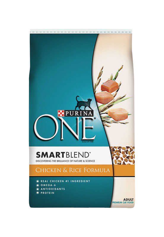 Purina  One Smart Blend  Chicken and Rice  Dry  Cat Food  16 lb.
