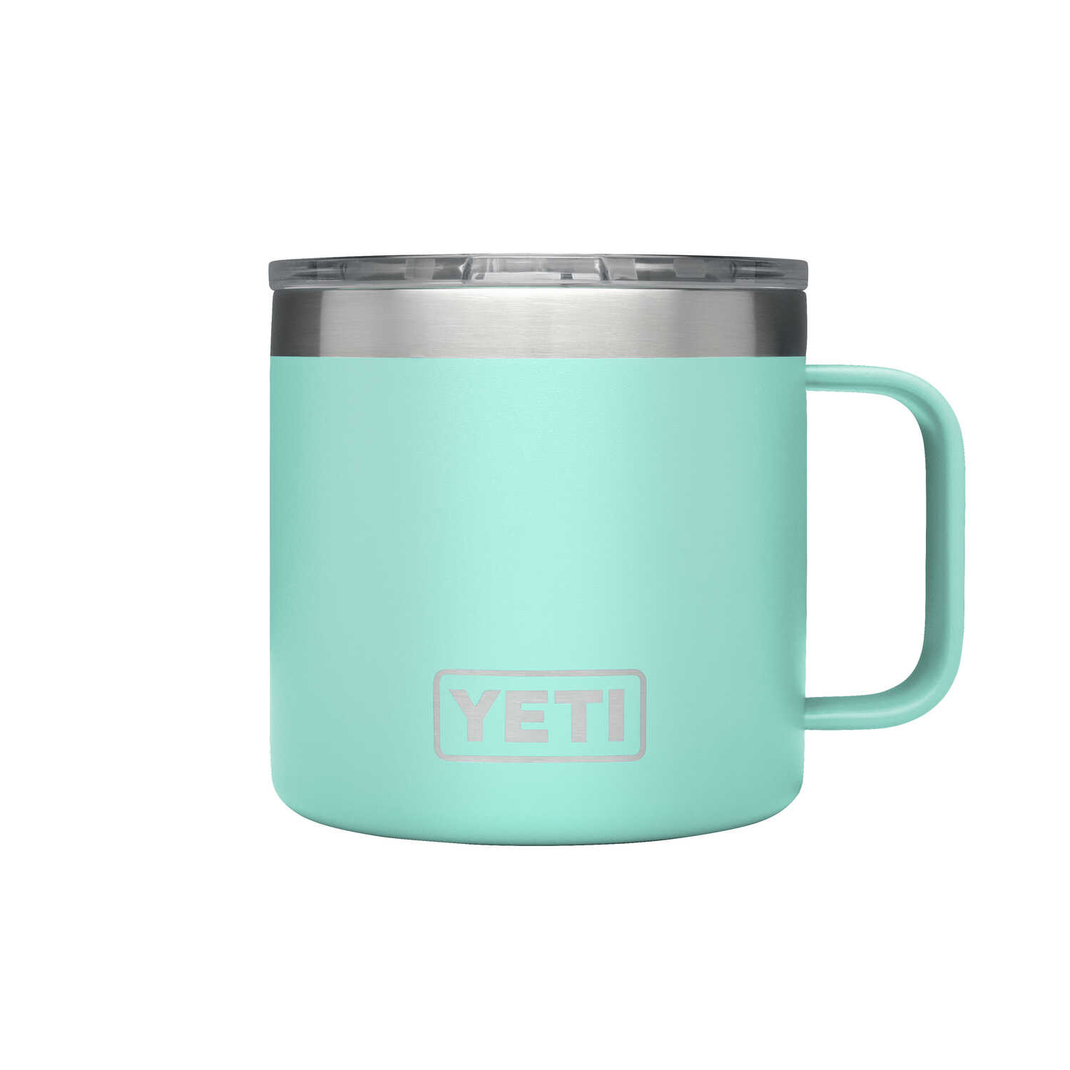 YETI  Rambler  Seafoam Green  Stainless Steel  BPA Free Insulated Mug  14 oz.
