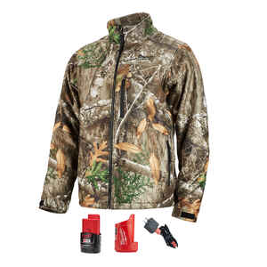 Milwaukee  M12 QuietShell  XL  Long Sleeve  Unisex  Full-Zip  Heated Jacket Kit  Camouflage