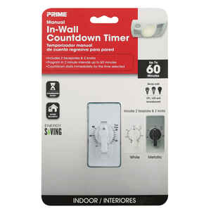 Prime  Indoor  Spring Wound Timer  White