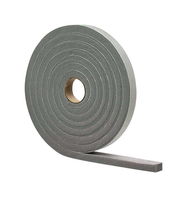 M-D Building Products  Gray  Vinyl and Foam  Weather Stripping Tape  For Door 17 ft. L x 1/8 in.
