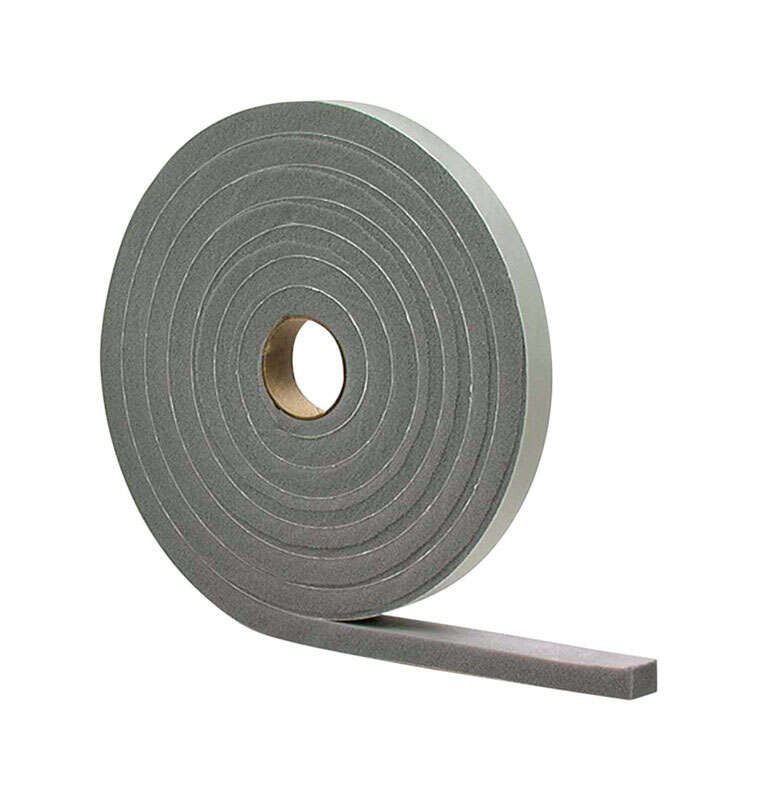 M-D  Gray  Vinyl and Foam  Weather Stripping Tape  For Doors 17 ft. L x 1/8 in.
