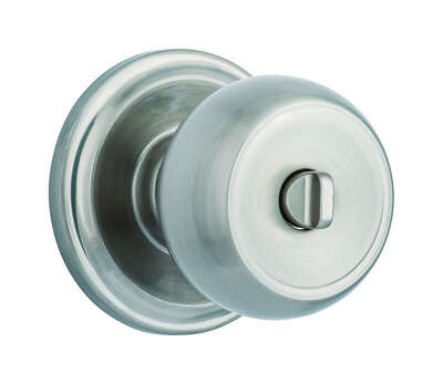 Brinks  Push Pull Rotate  Stafford  Satin Nickel  Single Cylinder Lock  ANSI Grade 2  KW1  1.75 in.