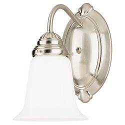 Westinghouse 1 Brushed Nickel White Wall Sconce
