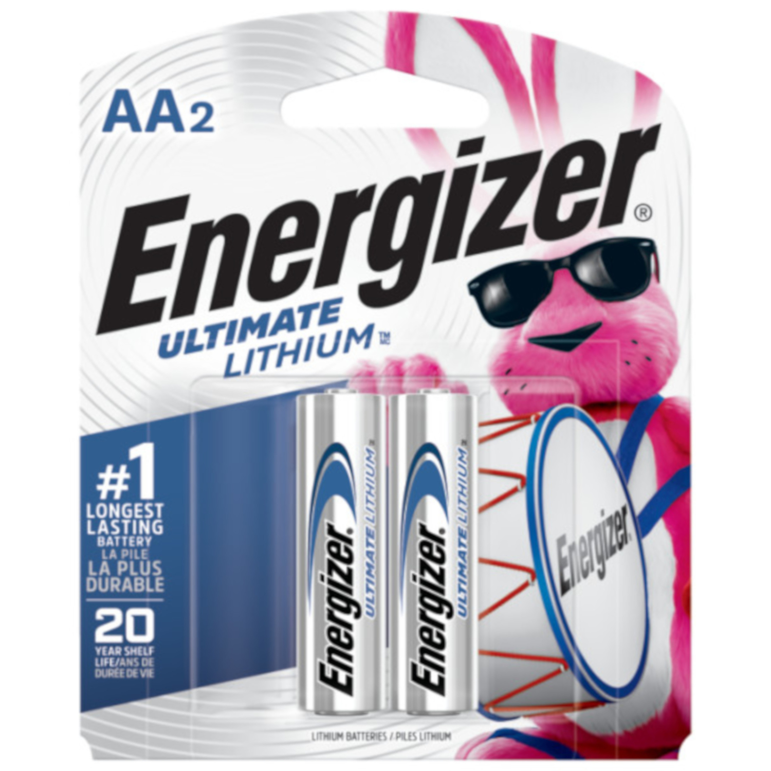 Energizer  Ultimate  Lithium  AA  Camera Battery  L91BP-2  2 pk