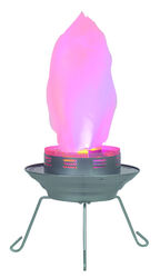 Living Accents  Fake Flame  LED  Fire Pit  9 in. H x 11 in. W x 11 in. D Steel
