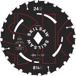 SKILSAW  8-1/4  Dia. x 13/16 in.  Carbide Tipped Steel  Circular Saw Blade  24 teeth 1 pc.