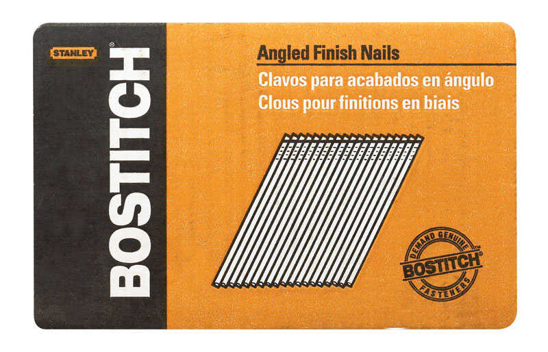 Bostitch  15 Ga. Smooth Shank  Angled Strip  Finish Nails  1-3/4 in. L x 0.12 in. Dia. 3655 pk