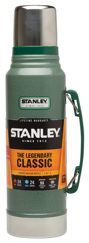 Stanley  Hammertone Green  Stainless Steel  Insulated Bottle  1.1 qt. BPA Free