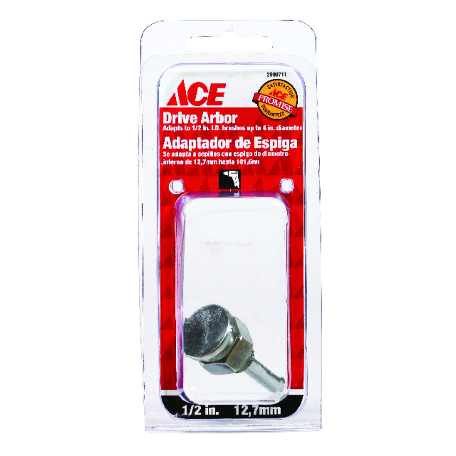 Ace  1/2 in. Crimped  Wire Wheel Arbor  Steel  1 pc.